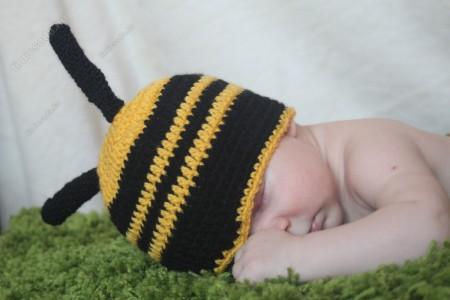 Méhecske babafotó jelmez - újszülött fotózáshoz
