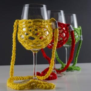 Nyakba akasztható, boros pohár tartó